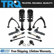 Trq 12pc Steering Suspension Kit Control Arms Ball Joints Tie Rods End Links