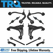 Trq 10 Piece Steering Suspension Kit Control Arms Tie Rods Sway Bar End Links