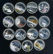 Discover Australia 2006 2007 2008 Series Set Of 15 1 Silver Proof Coin Landmark