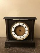 Antique Clock Case And Mechanism For Parts Or Restoration