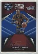 2016 Panini Totally Certified Fabric Of The Game Materials Blue /99 Lebron James