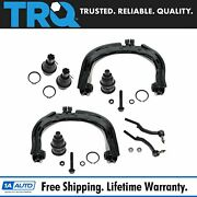 Trq Control Arm Ball Joint Outer Tie Rod End Steering Suspension Kit Set 8pc