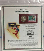 1992 Olympic Games Half Dollar Postal Commemorative Coin And Stamp