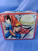 New Thermos Superman Daily Planet Tin Lunchbox Rare