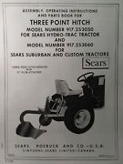 Sears Custom Suburban Lawn Garden Tractor Three-point Hitch Owner And Parts Manual