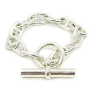 Hermes Chaine Dand039ancre Gm Silver 925 Charm Bracelet Silver 19g229214 36875
