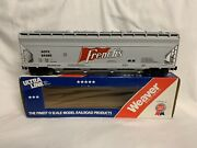 ✅weaver French's 4 Bay Centerflow Covered Hopper Car W/ Lionel Type Couplers