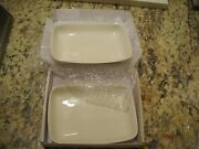 Pair Of Waterworks Ceramic Bathroom Soap Dishes Never Used