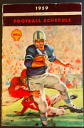 1959 Shell Oil Canadian Pro College Football Handbook Pocket Sked Game Schedule
