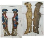 Vintage Burwood Products Revolutionary Soldiers Hanging Wall Décor Statue 4246