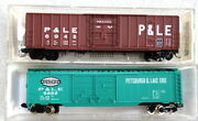 2 Pittsburgh And Lake Erie Boxcars - N Scale