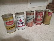 Assorted Vintage Beer Cans Shiner Bosch Grand Union Abc And Finast