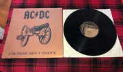 Ac/dc For Those About To Rock Lp Nm Vinyl In Shrink 1981 Looks Unplayed