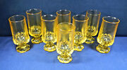 Eight 8 Franciscan/tiffin Madeira Corn-silk Color 6 1/2 Footed Ice Teas