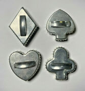 4 Lots Of Vintage Cookie Cutters Aluminum And Steel Angels Cards Animals Plus