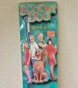 New Shakespeare Kids Scooby Doo 5' Fishing Pole Reel And Fun Pack Tackle Box Vtg