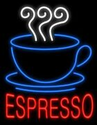 Espresso Coffee Neon Sign For Caf¨¦ Bar Station Bakery Store Real Neon24x20