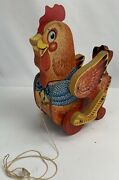 140 Fisher Price Toys Katy Kackler The Red Hen Pull Toy Chicken 1954-1957- Works