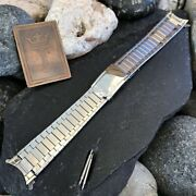 Rare Wyler 660 Dynawind Swiss Stainless Steel 18mm Nos Vintage Watch Band