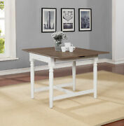 Hesperia Rectangular Drop Leaf Dining Table Pale Ale And White123001