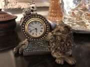Jay Strongwater Cat And Mouse Clock Tower