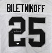 Raiders Fred Biletnikoff Autographed Signed White Jersey Beckett Bas 185818
