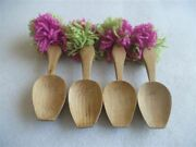 Vintage Hand Made Colorful Wooden Spoons Set For Folk Dance Spoons Lot Of 4