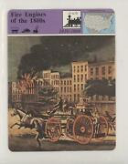 1979 Panarizon Story Of America Deck 19 Printed In Italy Fire Engines The 1800s
