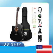 41 Inch Full-size Left Handed Guitar Acoustic Electric Guitar With Gig Bag And Eq