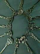 12 And Co Demitasse Spoons Set Floral 1885 Aesthetic Sterling Silver Spoon