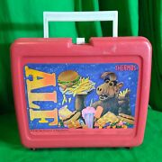 Alf Vintage Tv Show 1978 Red Plastic Lunchbox Rare Lunch Box
