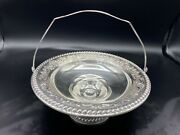Vtg International Weighted Sterling Silver F36 Basket Footed Candy Dish W/handle
