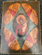 The Mother Of God Of The Burning Bush 19th Century Russian Icon Large Size