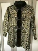 Vintage Couture Brocade Sleeveless Dress And Matching Coat By Designer Erlebacher
