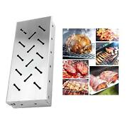 Durable Bbq Stainless Steel Smoker Box Charcoal Gas Grill For Meat Smoking
