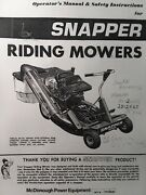 Snapper Rear Engine Riding Lawn Mower Tractor Owners Manual Hi Vac 2812x6s