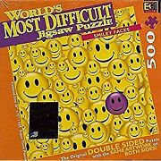 Bonus - World's Most Difficult Jigsaw Puzzle, Smiley Faces, Double Sided Puzzle