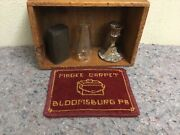 Antique Wood Box With Small Items-great For Decorating