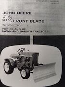 John Deere 42 Front Blade Owner And Parts 2 Manuals 110 112 Lawn Garden Tractor
