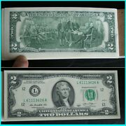 New Pad 2013 Two Dollar Bills 2.00 Note 25 Consecutive L6113626a Ascending Hr