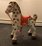 1940's Mobo Bronco Metal Ride On Toy Horse Made In England - In Great Condition