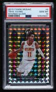 2019-20 Panini Mosaic Stained Glass Trae Young 4 Psa 10