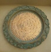 Vintage Gregorian Solid 100 Copper Decorative 13 Inch Platter Plate Made In Usa