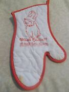 Coca Cola Bottlers Assoc. Apron And Oven Mitt What's Cooking With Dog Cartoon