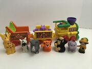 Fisher Price Little People Zoo Musical Animal Train Set 6 Pc Animals