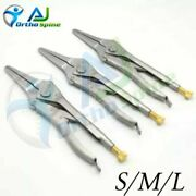 Set Of 3 Vise Vice Grip Style Pin Removal Orthopedic Instruments
