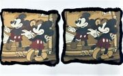 Disney Mickey Mouse Vintage Classic Mouse 16andtimes16andrdquo Throw Pillow Decorative Set 2
