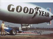 35mm Slide Danny Ongais Cox Aa/fd With Goodyear Blimp  Drag Racing Photo
