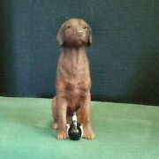 Chocolate Lab With Decoy By Stone Critters/united Design 1506 - Nib