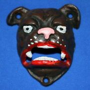 Bulldogs Gift For Grandpa / Beer Bottle Openers Wall Mounted Cast Iron Dlt
